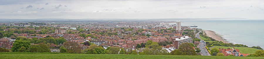 Panoramic View of Eastbourne by David Iliff